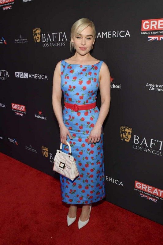 Emilia Clarke attends The BAFTA Los Angeles Tea Party at Four Seasons