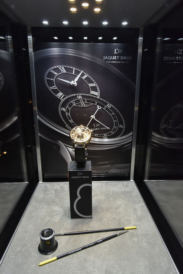 Jaquet Droz display at Tao Downtown