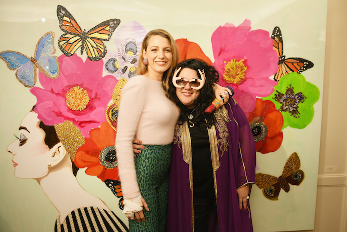 Blake Lively and Ashley Longshore at The Launch of the Pop Artist's Exhibit