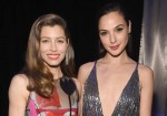 Jessica Biel (L) and Gal Gadot