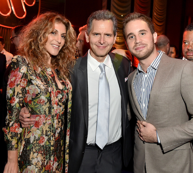 (L-R) Chairman & COO Atlantic Records Group Julie Greenwald, Chairman & CEO Atlantic Records Group Craig Kallman, and Ben Platt attend the Warner Music Group Pre-Grammy Party in association with V Magazine.