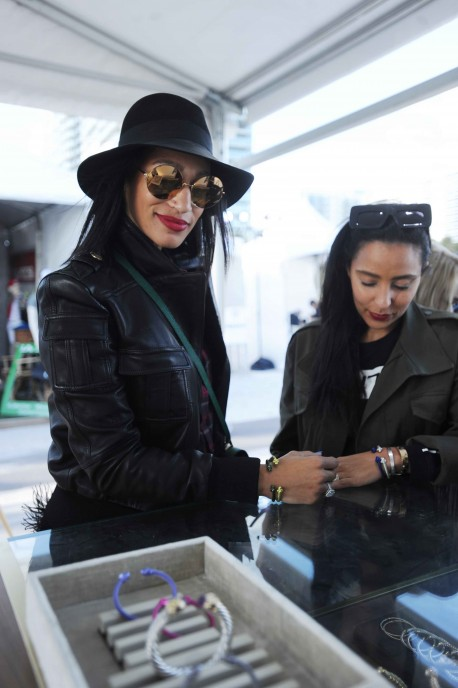 Alexis Stoudemire & Friend at David Yurman Pop Up at Beach Polo World CupJPG2