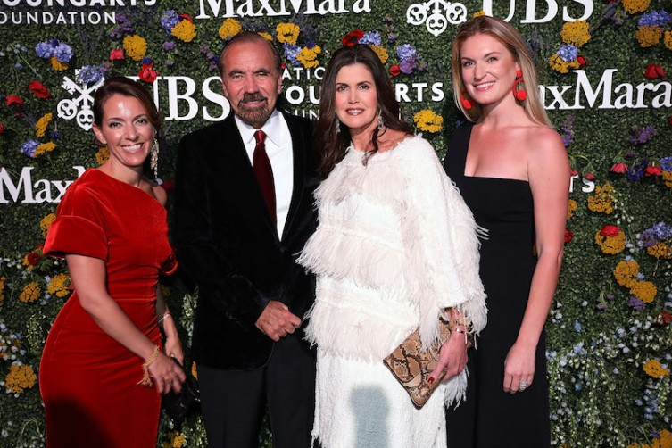 Carolina Garcia Jayaram, Jorge Perez, Darlene Perez, and Sarah Arison attend National YoungArts Foundation Backyard Ball Performance and Gala 2018