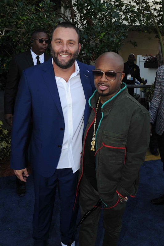 David Grutman & Jermaine Dupri at the $16 Million Pegasus World Cup Invitational - Photo Credit World Red Eye