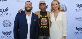 David Grutman, Pharrell Williams, & Belinda Stronach at the $16 Million Pegasus World Cup Invitational - Photo Credit World Red Eye
