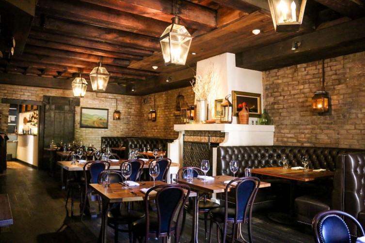 The dining room at El Paseo