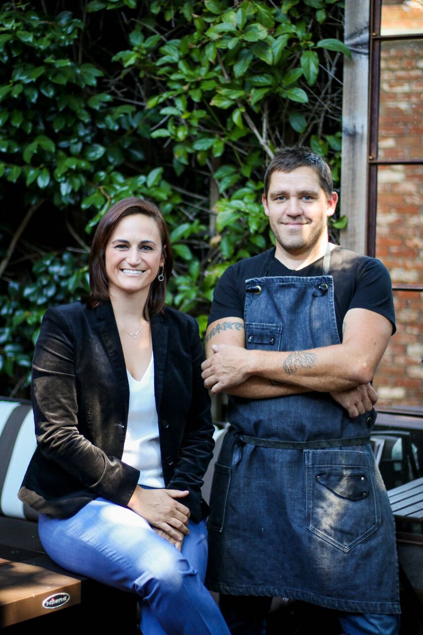 Cassie Corless and chef Todd Shoberg