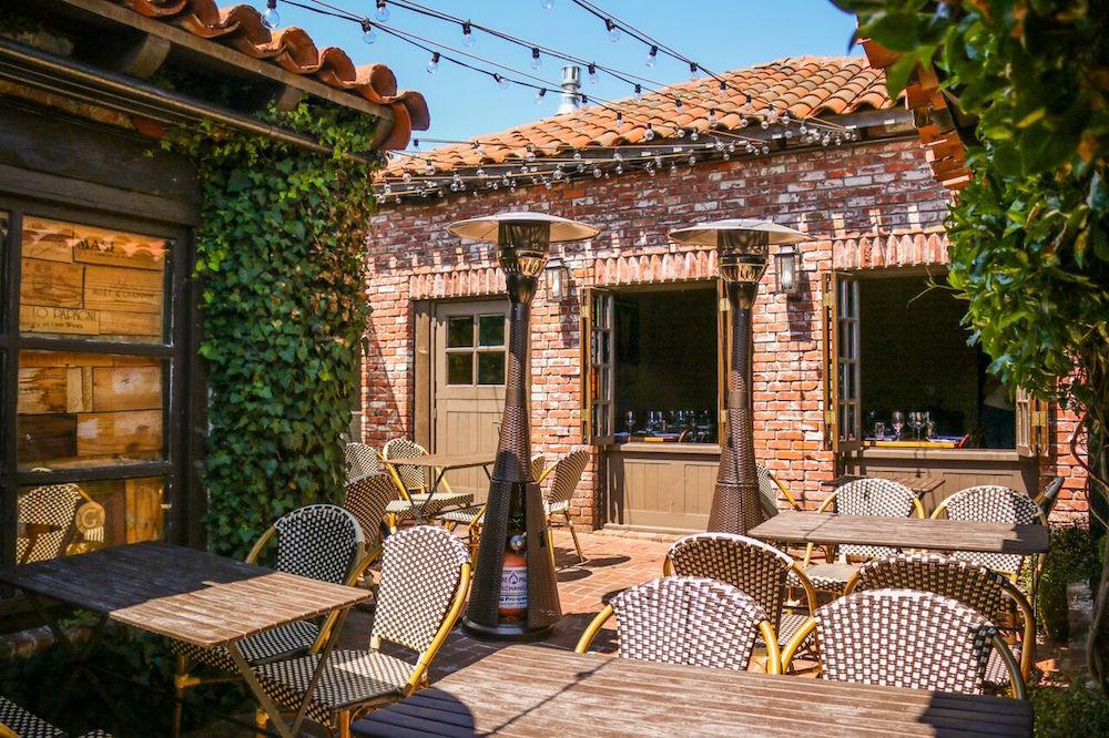 The pretty patio at El Paseo
