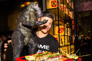 This Outrageous Godzilla Sushi Platter Includes A Roll Called El Chapo
