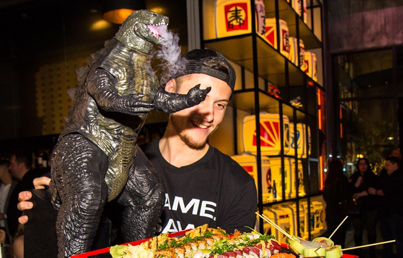 You Need To Check Out This Outrageous Godzilla Sushi Platter At SAKE ROK