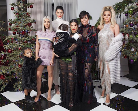 Kardashian Christmas Party Instagram