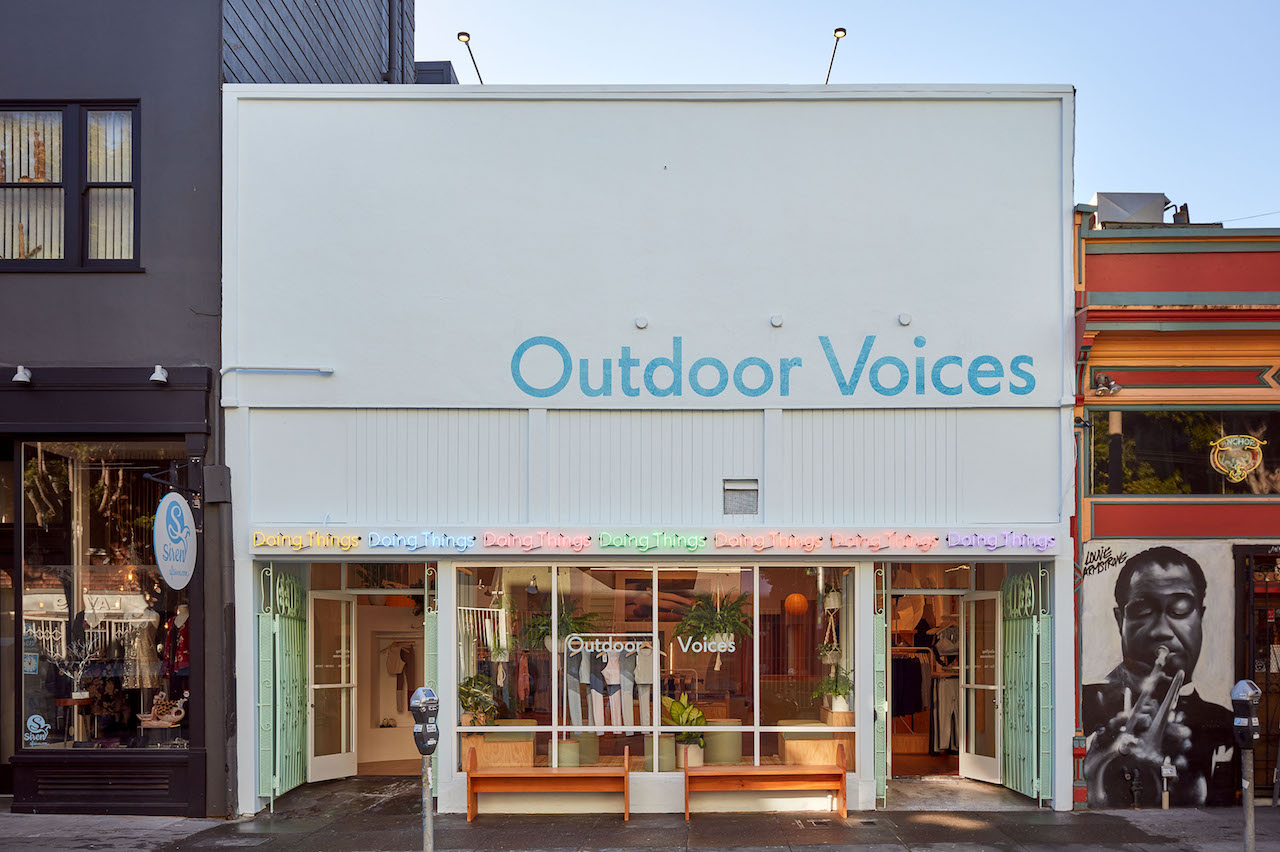 Outdoor Voices' storefront