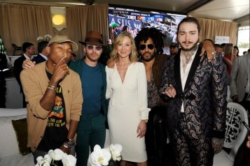 Pharrell Williams, Prince Royce, Belinda Stronach, Lenny Kravitz & Post Malone at the $16 Million Pegasus World Cup Invitational - Photo Credit World Red Eye