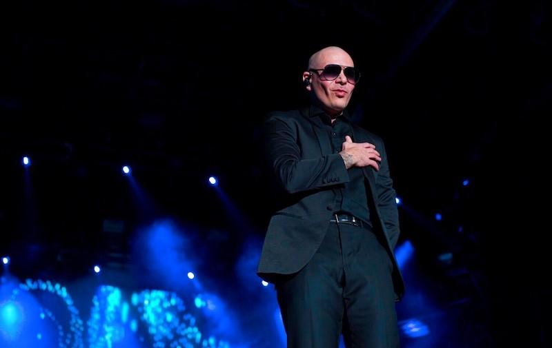 Pitbull at Worldwide NYE at Bayfront Park
