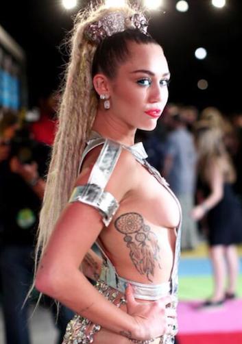 Miley Cyrus at the VMA Awards