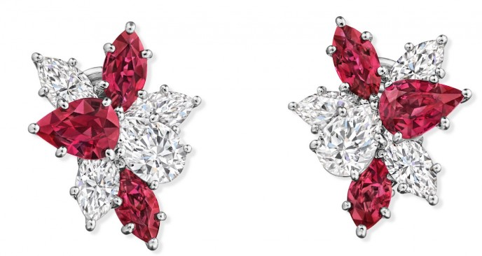 Harry Winston Cluster with Rubies
