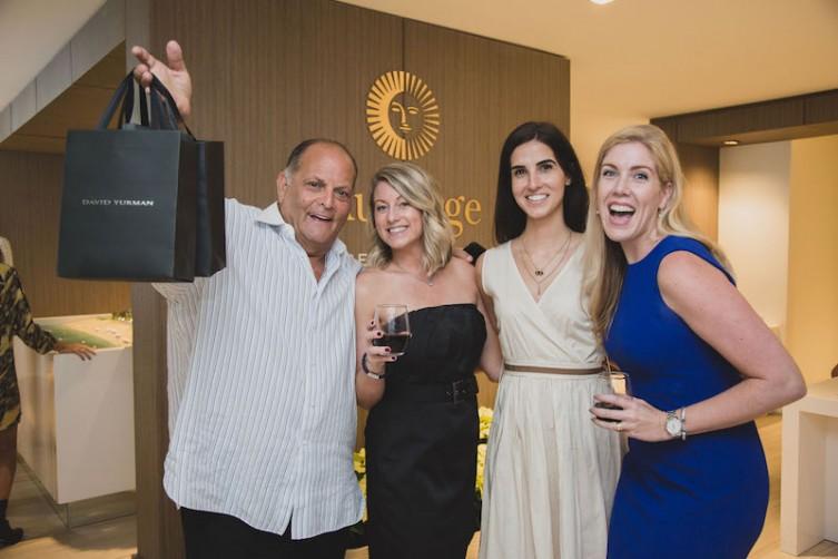Steven G., Melissa Nelson, Erica Guzman, Courtney Greene at AubergeBeach Residences & Spa Fort Lauderdale's wine tasting hosted in partnership with David Yurman.
