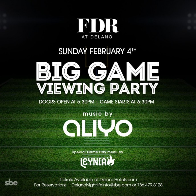 Super Bowl Viewing Party at FDR