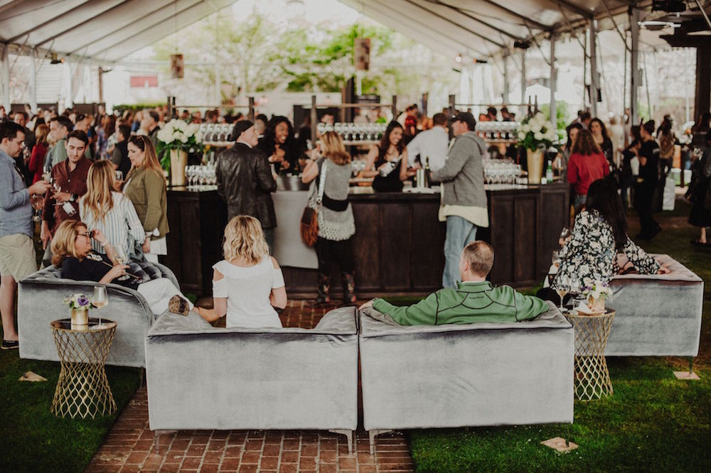 A lounge area during the 2017 grand tasting