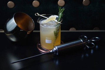 The Rickey at Dream Midtown's The Peaty Penicillin Cocktail, $16_Courtesy of Dream Midtown (1)