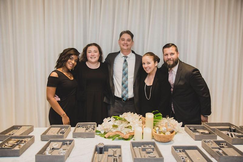 Tiffany Lakeman, Amber Demerac, Seth Cohen, Nicole Huschen, Marc LaMonica at AubergeBeach Residences & Spa Fort Lauderdale's wine tasting hosted in partnership with David Yurman.
