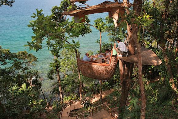 Treepod dining experience1 at Soneva Kiri