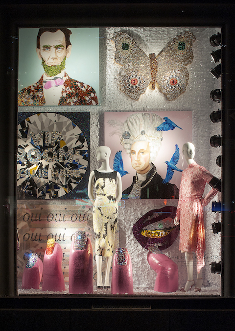 Ashley Longshore Window Display at Bergdorf Goodman