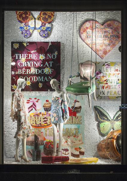 Ashley Longshore Window Display at Bergdorf Goodman