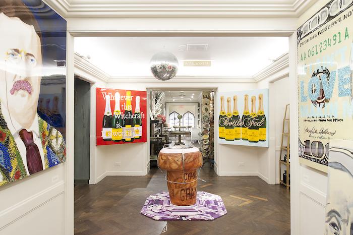 Ashley Longshore 7th floor exhibit at Bergdorf Goodman