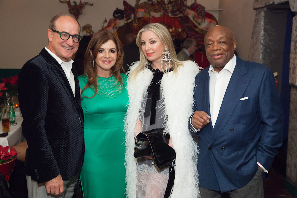 Longtime friends Victor and Farah Makras with Sonya Molodetskaya and Willie Brown