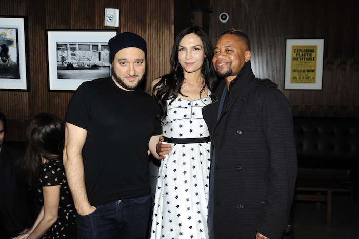 "Gregg Bello, Famke Janssen, Cuba Gooding Jr at the after party for ""Louisiana Caviar"" at The Mailroom, NYC"