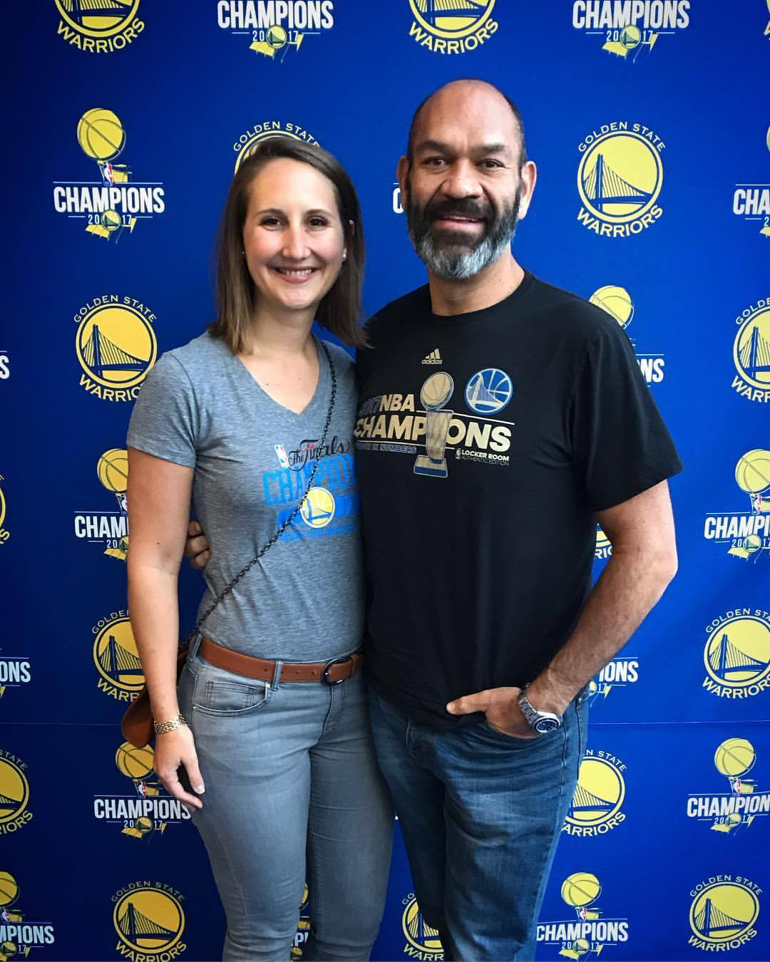 The Davilas at a Warriors event