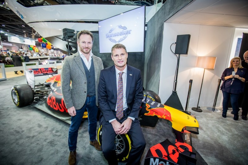 Christian Horner of Aston Martin Red Bull Racing Team and Phil Popham