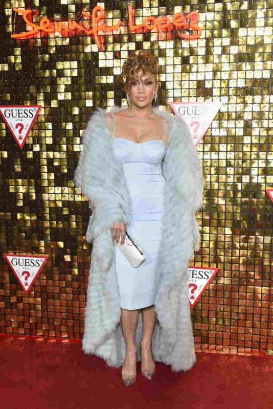 Jennifer Lopez at the Guess Spring 2018 Campaign Reveal
