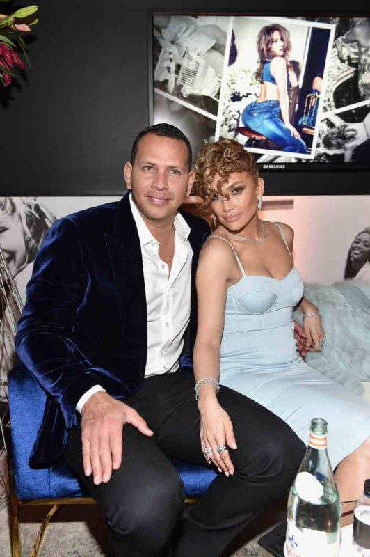 Alex Rodriguez and Jennifer Lopez snuggle up at her Guess campaign launch