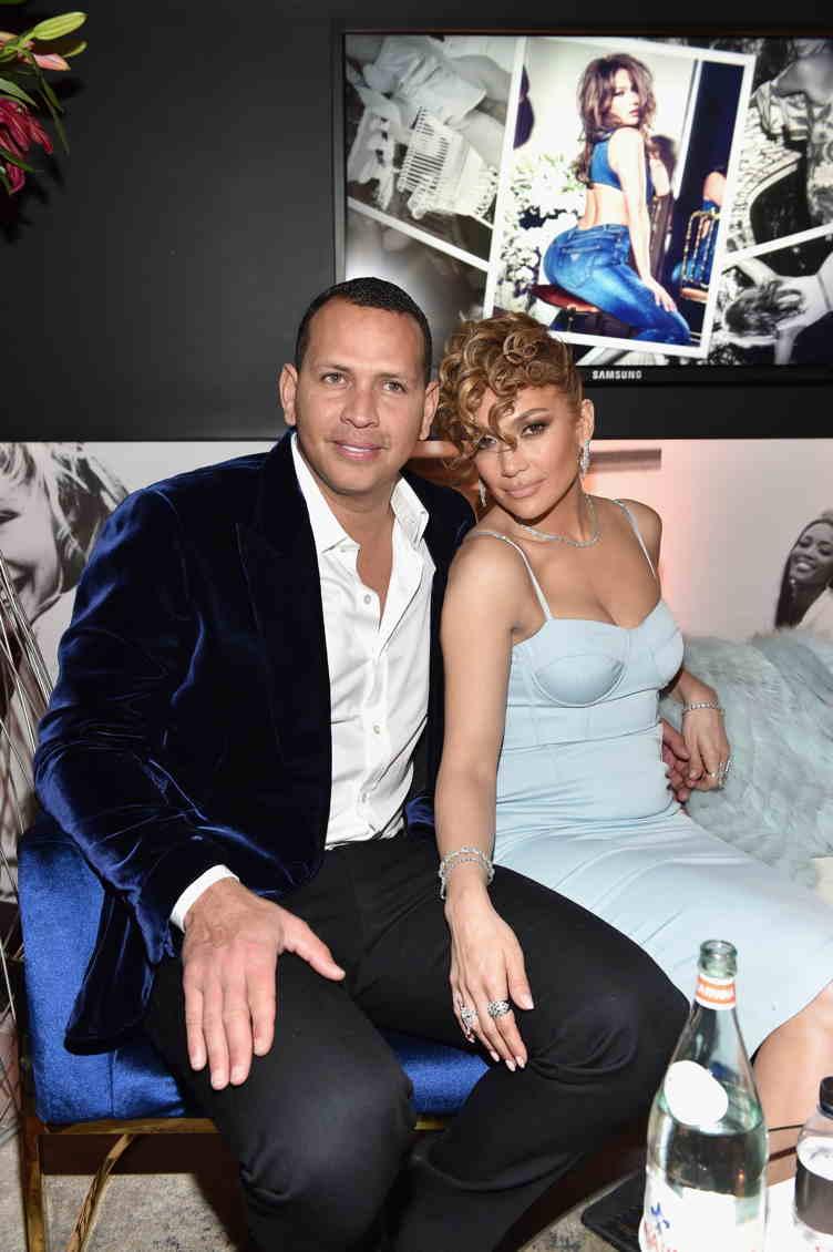 Jennifer Lopez Cuddles Alex Rodriguez At Guess Campaign Launch