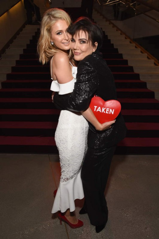 Paris Hilton (L) and Kris Jenner