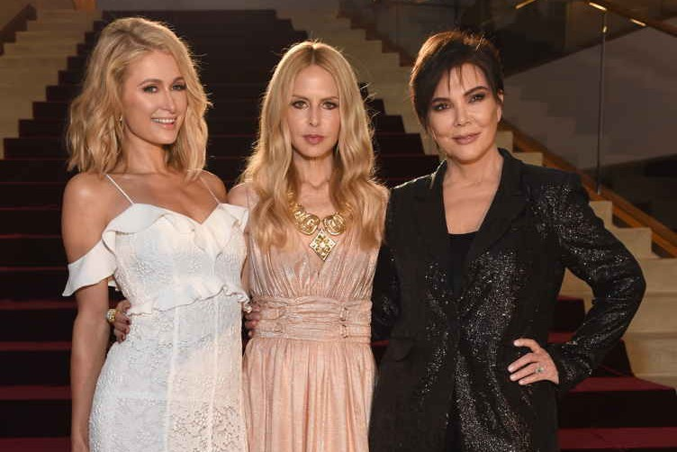 (L-R) Paris Hilton, Rachel Zoe and Kris Jenner celebrate with Belvedere Vodka at the Rachel Zoe Fall 2018 Presentation in Los Angele