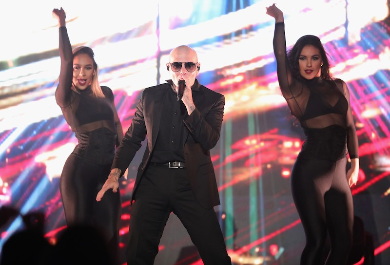 "Pitbull performs onstage during WCRF's ""An Unforgettable Evening"" Presented by Saks Fifth Avenue"