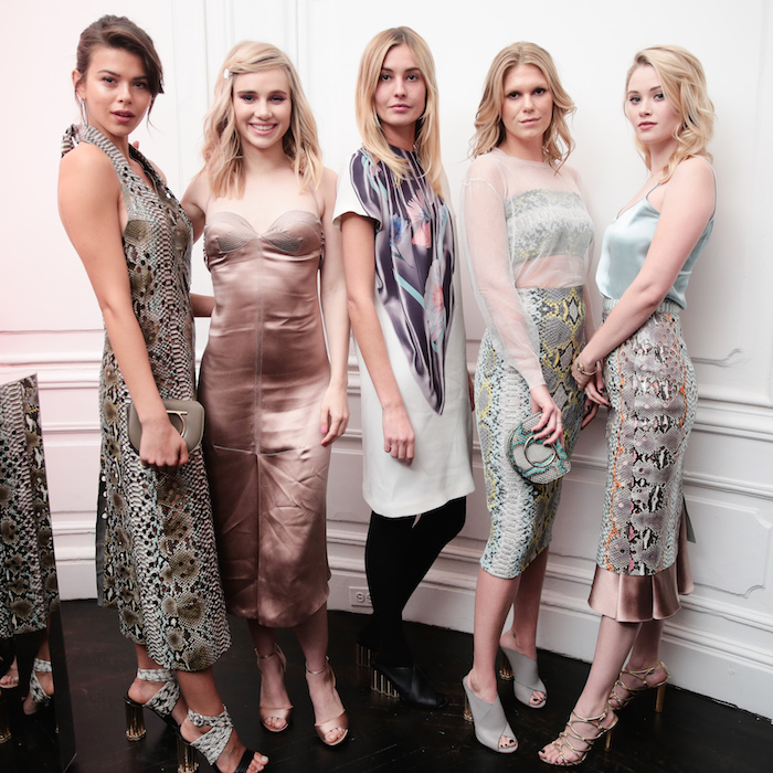 Georgia Fowler, Suki Waterhouse, Nadja Bender, Alexandra Richards, Virginia Gardner