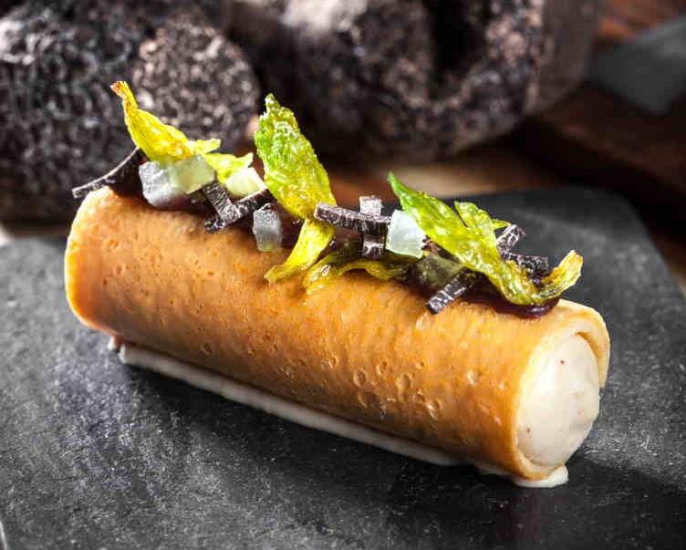 Bazaar Meat Black Truffle Barquillo