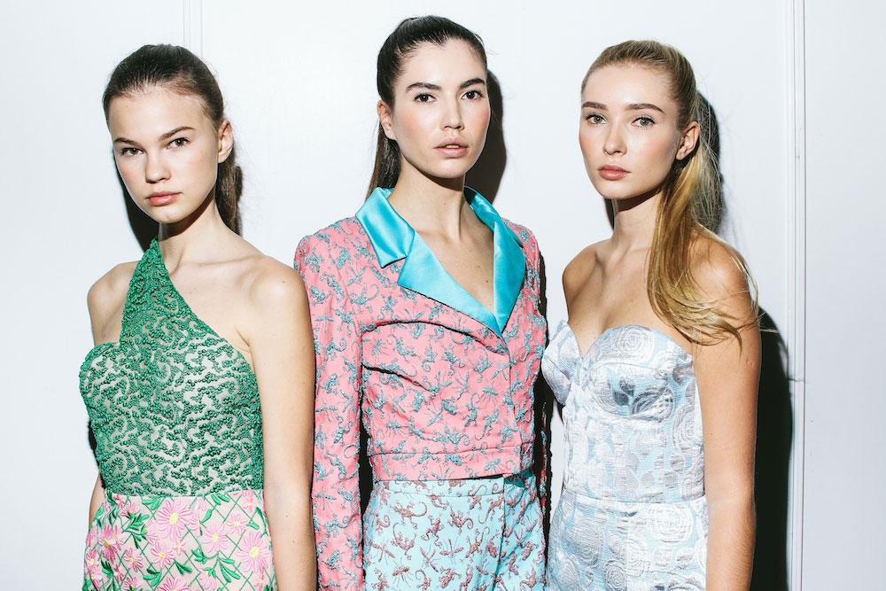 Models at MBFW Russia