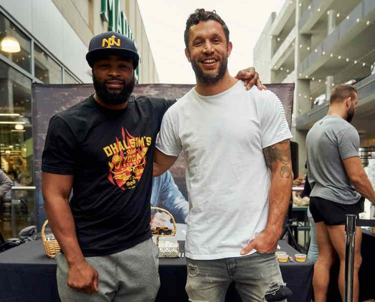 Woodley and Aubrey Marcus