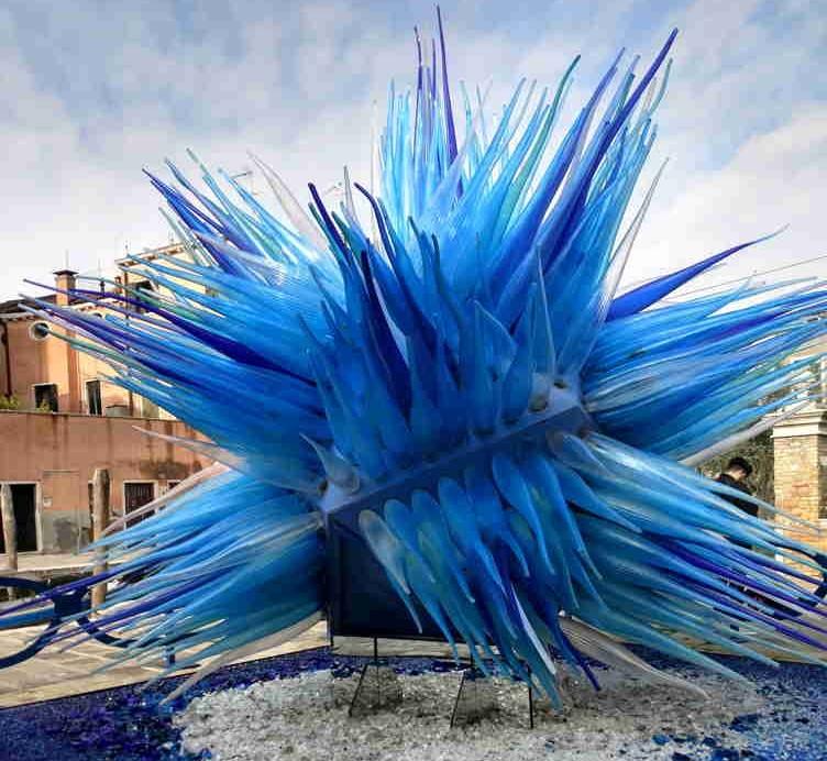 A glass sculpture on Murano