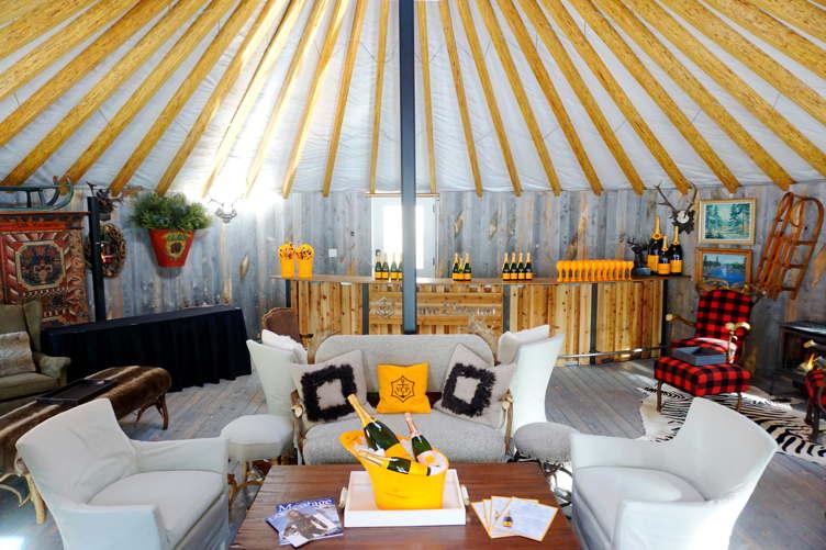 Veuve Cliquot Apres-Ski Lounge at the Montage Deer Valley
