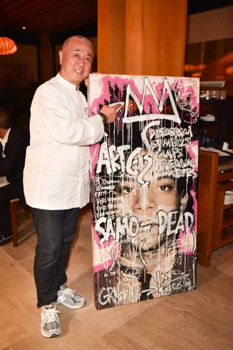 Nobu with Shawn Kolodny art