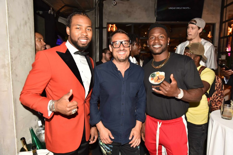 Josh Norman, Shawn Kolodny and Antonio Brown
