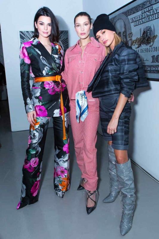 Kendall Jenner, Bella Hadid + Hailey Baldwin