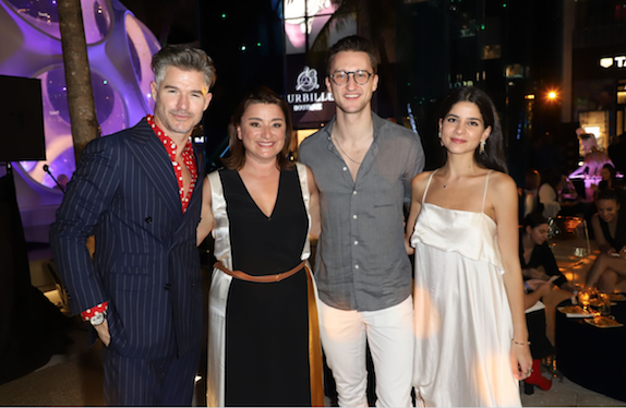Eric Rutherford, Fabienne Lupo, Marcel Floruss and Lainy Hedaya