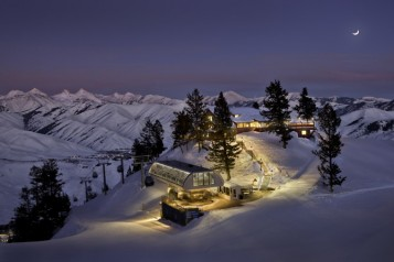 Sun Valley Lodge Round House Sunset copy
